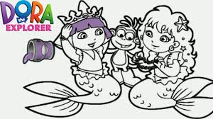 Small Picture Dora the Explorer Mermaid Princess Nick Jr Coloring Book Game for