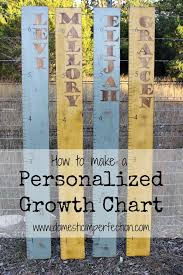 Diy Height Chart Custom Name Growth Charts Domestic Imperfection
