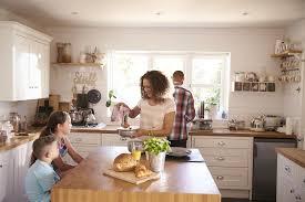 Family Kitchen Design Interesting Decorating