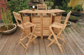 wood patio bar set. Wood Outdoor Patio Bar Stools Set Furniture