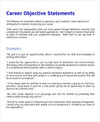 Powerful Resume Objective Statements 15 Example Of Career Objective Statement Lettering Site