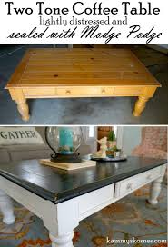 coffee table redo antique mirror tray vignette