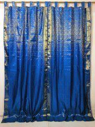Small Picture Amazoncom 2 India Sari Brocade Curtain Fuchsia Pink Gold Tab Top