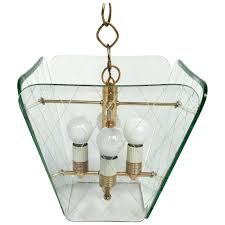 glamorous beveled glass chandelier 8 etched and brass by for 221