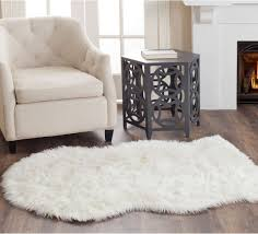 Faux sheepskin rugs Accent Elements Hiyoung Faux Fur Floor Rug Large Faux Sheepskin Rug Faux Fur Rug 4x6 Faux