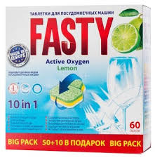 <b>Fasty</b> Active Oxygen <b>таблетки</b> (<b>лимон</b>) <b>для</b> посудомоечной машины