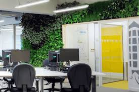 green wall office. UK Green Building Council Wall Office