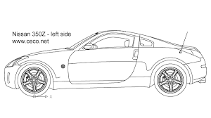 sport cars drawings.  Drawings Autocad Drawing Nissan 350Z Sports Car  Left Side In Vehicles Cars And Sport Drawings