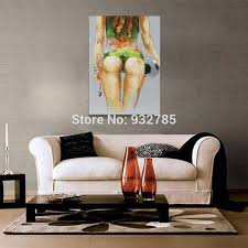 Small Picture Aliexpresscom Buy handmade Abstract Soccer Babe Thick oil Knife