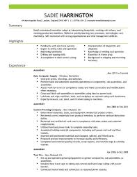 Assembly Resume Resumes Technician Operator Automotive Assembler