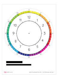 Learn About Time Printable Clock Template Yes We Made This