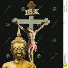 Dos Religiones - Buda Y Jesus Christ Foto de archivo - Imagen de  monotheistic, junto: 108736088