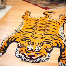 real tiger skin rug with head 2