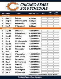 Bears Depth Chart 2016 7 Best Chicago Bears Schedule Images Chicago Bears