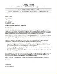 Hr Generalist Cover Letter Sample Monster For Hr Cover Letter
