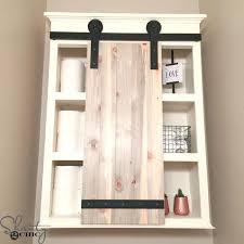 outstanding impressive sliding barn door bathroom cabinet shanty 2 chic regarding storage wall cabinets with doors