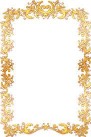gold frame border png. Frame Border Vintage Gold Png Ornate M