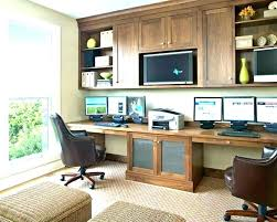 two desk office. Modern Home Office For Two Ideas Dual Desk  .
