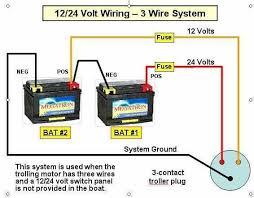24 volt battery wiring diagram 36 volt trolling motor wiring diagram at 24 Volt Marine Wiring Diagrams