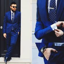 Armani Light Blue Suit Gabriel Zara Suit Asos Tie Bar Swarovski Cuff Links