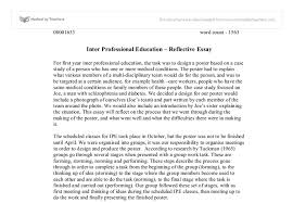 academic reflective essay how to write a reflective essay sample essays letterpile
