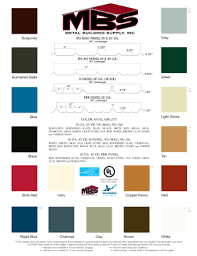 Metal Building Colors Chart Fillable Online Color Chart And Warranties Download Metal