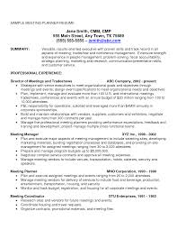 Meeting Planner Resumeamples 424945 Apparel Prod Coordinatoramples