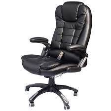 cushion home hom high back executive ergonomic leather heated vibrating office mage chair black kitchen dining under desk