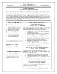 Sales Manager Resume Examples Examples Of Resumes