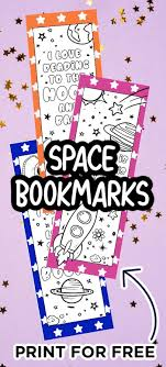 Free, printable easter coloring pages are fun! Printable Bookmarks To Color Space Bookmarks Made With Happy