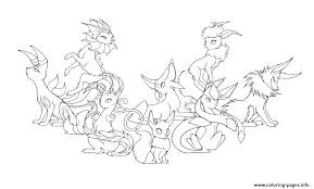Pokemon Eevee Coloring Pages And Coloring Pages Pokemon Eevee