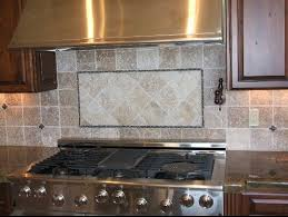 Kitchen Tile Ideas Grey Kitchen Backsplash Tile Set With Electric Stove  Chimney And Wooden Cabinets Picture