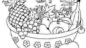 Small Picture Bowl Fruit Colouring Pages Gekimoe 48846