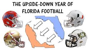 The Year Football Of Florida Upside-down