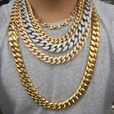 miss jewelry factory supply best hip hop collar gold chain cuban link iced hip hop