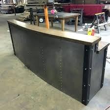 industrial desk legs industrial looking desk hand crafted restaurant business sleek metal front desk reception desk industrial desk