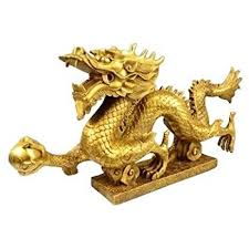GracaveFeng Shui Dragon  powerful feng shui goods Brass Bronze Statue  Sculpture