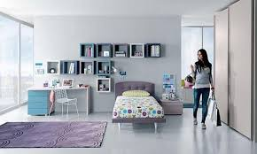 Girls bedroom design with cubic wall shelves, storage and decorating ideas  ...