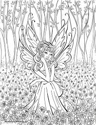 Detailed Coloring Pages For Adults This Fairy Colouring Page Was
