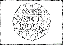 Get Well Soon Printable Cards Get Well Soon Printable Coloring Pages