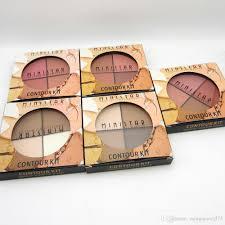 professional dark skin brand blusher make up waterproof 4 color mineral powder face contour bronzer makeup blush palette