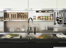 chef kitchen design. use pot racks or other built in cabinetry to minimize clutter cabinets and effectively store pots pans out the way. this metal boy cabinet is chef kitchen design