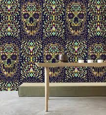 Geometric Skull Wallpaper Home Decor ...