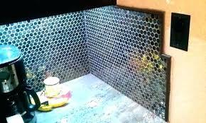 round tile backsplash penny kitchen back splash mosaic contemporary arabesque canada kitche
