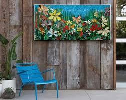 mosaic tile outdoor wall art