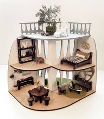 Sustainable Mid-Century Modern Dollhouse and Furniture