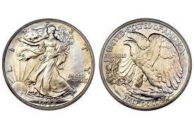 Half Dollar Worth Chart Walking Liberty Half Dollar Values And Prices