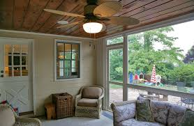 Roll ou The renovated screened porch