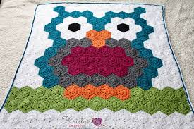 Crochet Owl Blanket Pattern Free Delectable Night Owl Crochet Hexagon Blanket Ad Free Version Kristyn Crochets