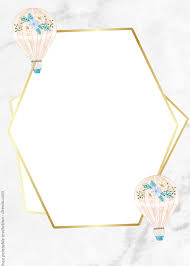 Sharetweetpingoogle+638shareswe have the most adorable hot air balloon paper craft idea to share with you today, and it comes with a printable template you can use. Free Watercolor Hot Air Balloon Vintage Invitation Templates Download Hundreds Free Printable Birthday Invitation Templates